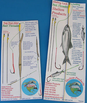 Pictures of Shelton Products bait threader.