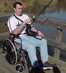 Pictures of Shelton Products StrikeFighter for the Wheel chair angler.